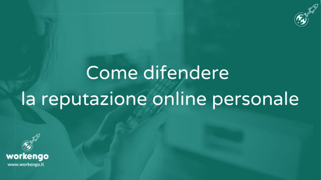 reputazione online personale