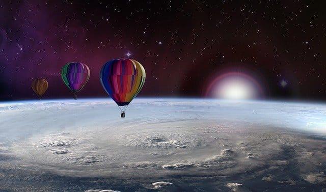 palloni nello spazio